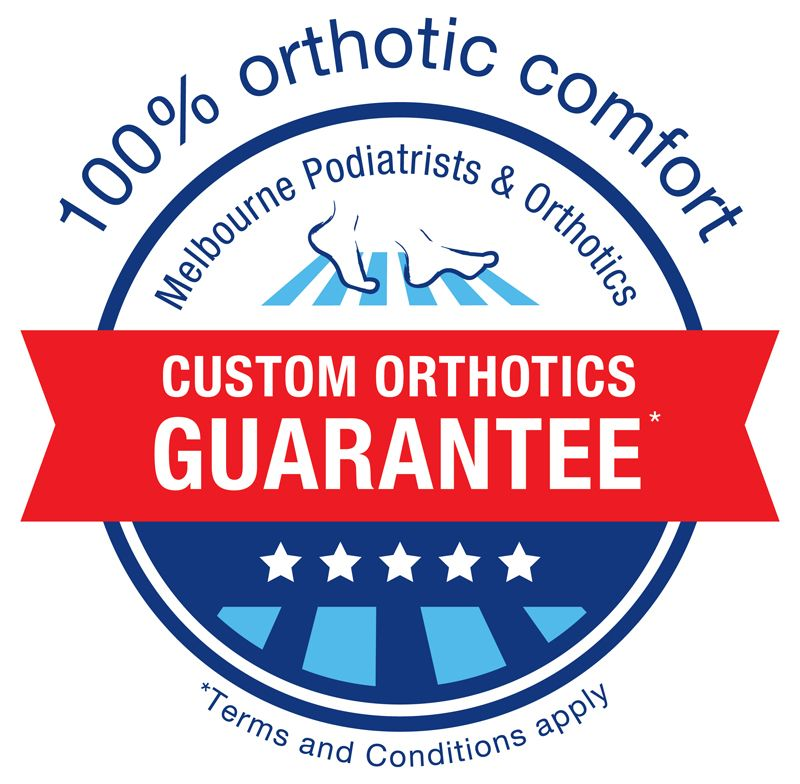 Custom orthotics guarantee Melbourne podiatrist