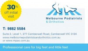 Melbourne Podiatrists & Orthotics refer a friend rewards appointment card